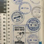 Our many stamps collected at Denali
