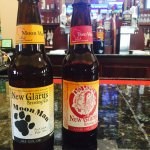 New Glarus perferred bar with over 5 different varieties