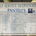 Panteli's menu