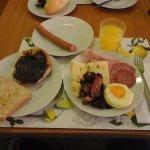 豊富な朝食