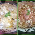 Basilico yummy...quattro formaggi and pizza with mortadella,ricotta and pistachios