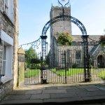 One access route to St Mary's Churchyard is alongside The Sun Inn