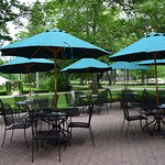 We offer patio seating, starting Memorial Day each year!