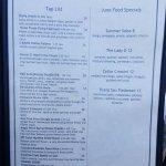 Fifth page menu.