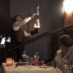 Flaming Sword Brochette of Tenderloin made tableside