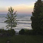 View from the stairs leading to the lawn and Lake Michigan