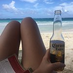Beer on the Beach! Servers bring you beverages and snacks while you luxuriate!