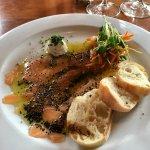 Smoked salmon appetizer - delicious
