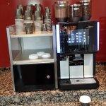 Free coffee machine in lobby