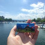 Swiss chocolate gift from the Free Walk Zurich + Limmat river