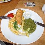 Fish and chips at The Ship Inn