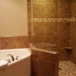 Room 131 shower bathroom