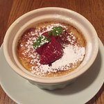 Really nice ginger creme brulee