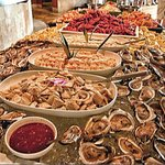 The abundant seafood station!