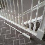 Broken railing in stair/bedroom.