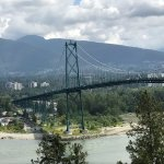 Lion's Gate bridge from Stanley Park