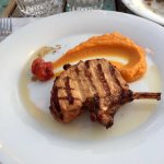 Pork Chop with mashed sweet potatoes