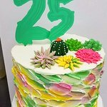 Desert theme cake