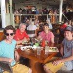 The Austin family at Lava, Lava Beach Club