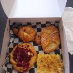 Chocolate Croissant, Cheese Danish Raspberry Danish & Lemon Bar