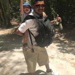 King David carrying my 3-year old throughout Tikal :)