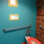 Museum washroom is very colourful.