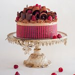 Raspberry & Lindt Chocolate Mousse Cake