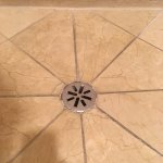 black mold shower grout