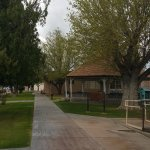 Walkway in front of Visitor Center leading to the Gazebo and Town Parks & Rec.