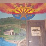 Front entrance of Visitor Center. Mural by local students and Verde Valley muralist Joan Bourque