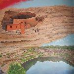 Depiction of Montezuma Castle.