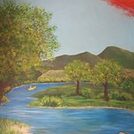 Depiction of a stretch of the Verde River, of which winds through our Town for 14 miles.
