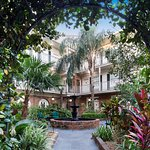 Lush French Quarter Courtyard Setting