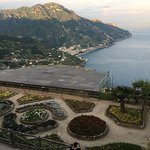 The stage for the Ravello Festival orchestra concert literaly hangs from the cliffside.