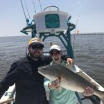 big redfish on Salty Dog Charters
