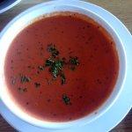 a very creamy tomato soup