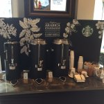 Starbucks coffee station in the lobby