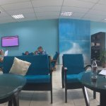 Panoramic view of transfer lounge at Male airport, while waiting for the seaplane