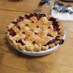 Raspberry & Rhubarb Pie