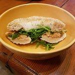 Smoked Trout, Baby Arugula & Horseradish Jelly Bagel Sandwich