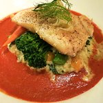 Grilled sea bass at Sterlings' at Silver Legacy Casino Reno (Alex Lee)