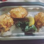Broiled crab cakes and crab imperial