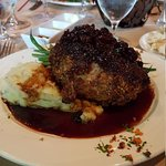 Pecan encrusted pork chop. More like pork roast. Best meal ever!!! Along with the caramel cheese