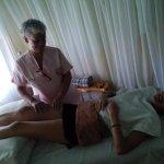 Masaje de pierna