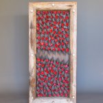 """Shadowbox - As Red As Black Is (57""""H x 26.5""""W x 7.75""""D)"""