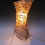 """Kozo/Bamboo - Corset Table Lamp (32""""H x 20""""W)"""