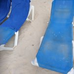 dirty beach chairs