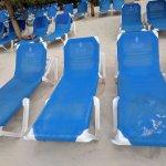 dirty beach chairs