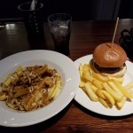 Poutine and burgers! So delicious.