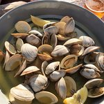 Clams in garlic-wine: Best thing we had at Waterman's
